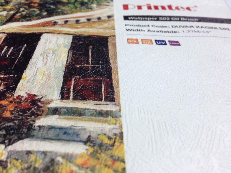 Printec® Yapışkanlı Duvar Kağıdı S02 (Yağlı boya dokulu)