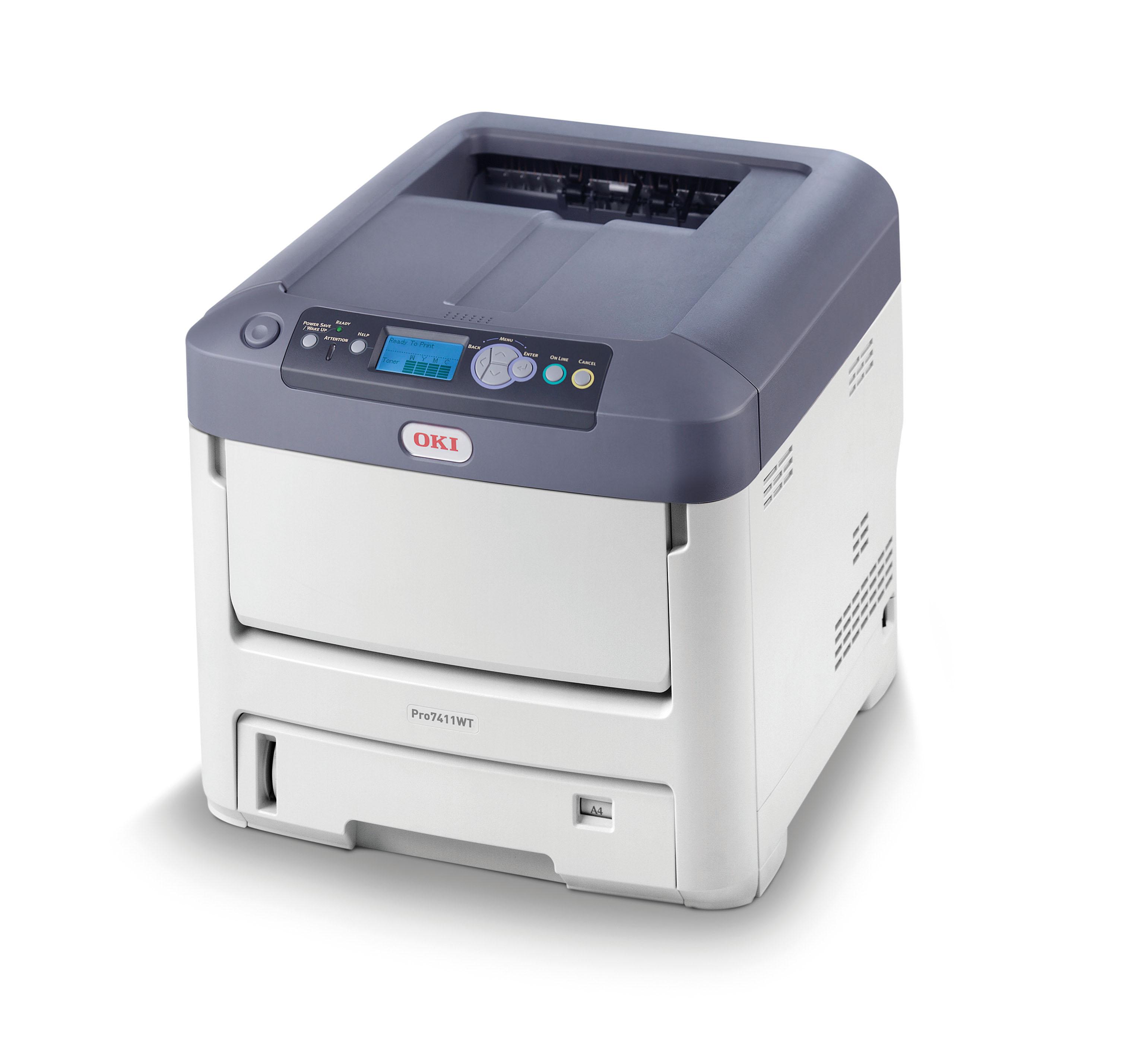 OKI Pro7411WT Beyaz Tonerli A4 Renkli Yazıcı